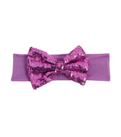 baby club purple nancy sequined bow headwrap