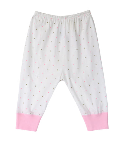baby club jammy jogger pajamas - pink dots