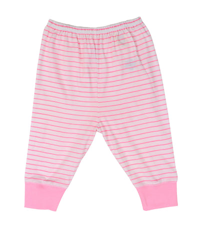 baby club jammy jogger pajamas - pink stripes