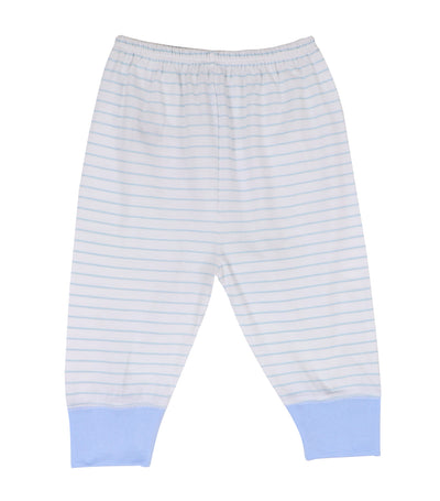baby club jammy jogger pajamas - blue stripes