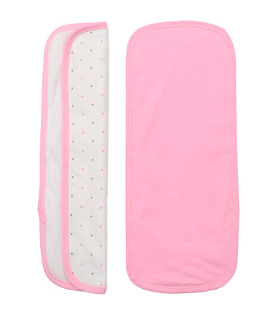 baby club burpy burp pads (set of two) - pink dots