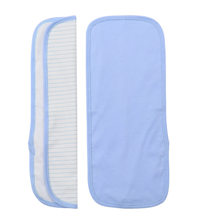baby club burpy burp pads (set of two) - blue stripes