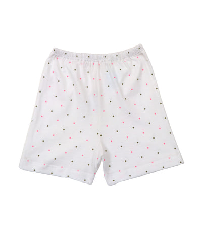 baby club shorty shorts - pink dots