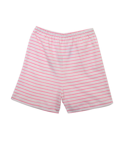 baby club shorty shorts - pink stripes