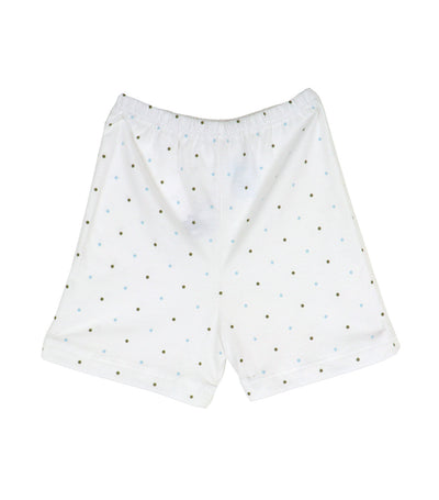 baby club shorty shorts - blue dots
