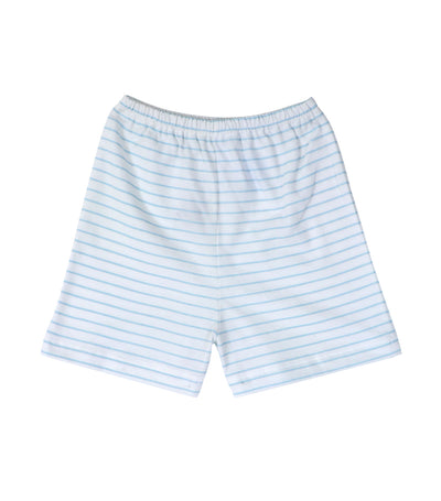 baby club shorty shorts - blue stripes