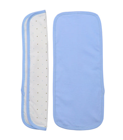baby club burpy burp pads (set of two) - blue dots
