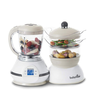 babymoov nutribaby 5-in-1 food processor - cream