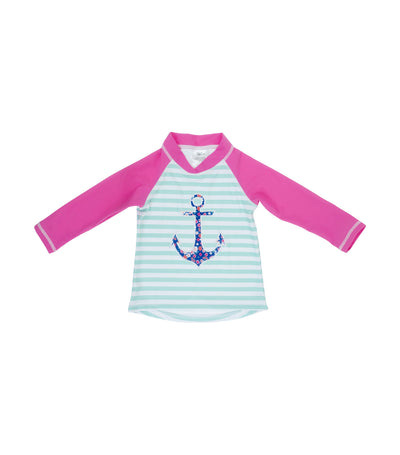 banz long sleeve uv rash top - anchor