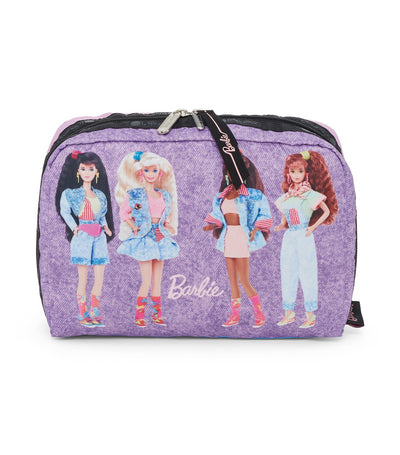 barbie x lesportsac extra large rectangular cosmetic all american