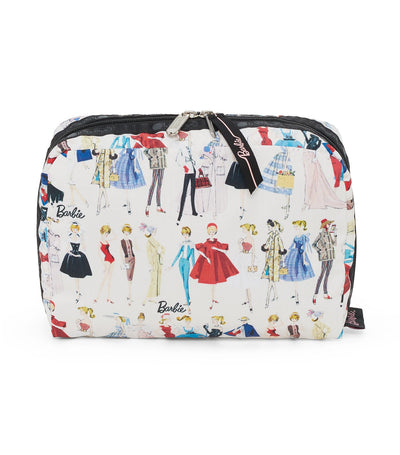 barbie x lesportsac extra large rectangular cosmetic all dolled up