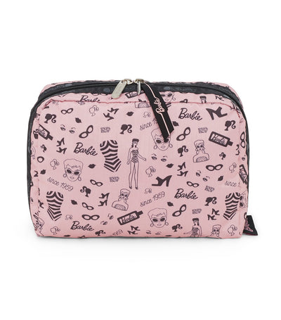 barbie x lesportsac extra large rectangular cosmetic barbie life