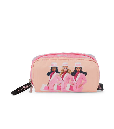 barbie x lesportsac rectangular cosmetic day to night