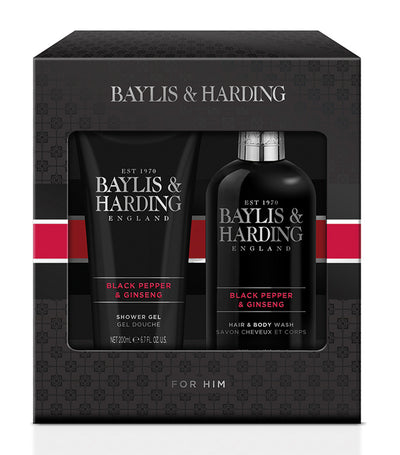 Baylis & Harding Black Pepper & Ginseng Two Bottle Set