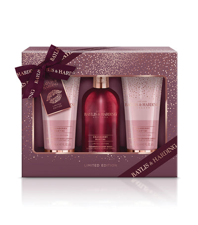 Baylis & Harding Cranberry Martini Limited-Edition Luxury Bath Trio Gift Set