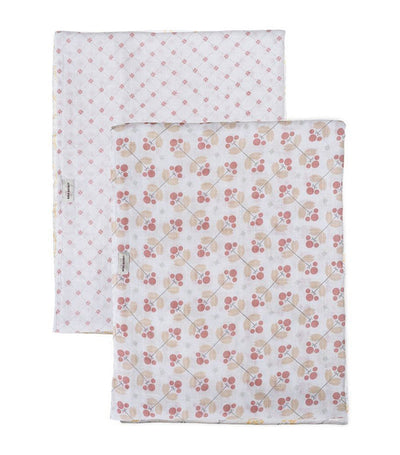 bebe au lait swaddle blankets set of 2 dewberry and lattice