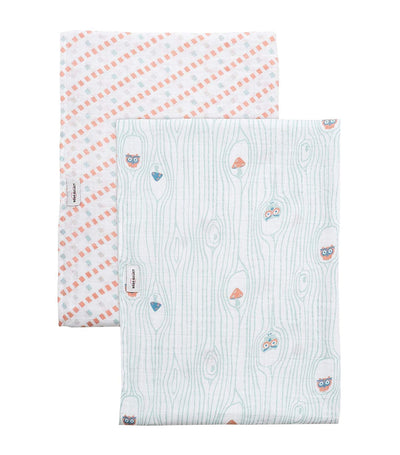 bebe au lait swaddle blankets set of 2 little owl and tinsley