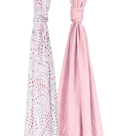 bebe au lait swaddle blankets set of 2 rose quartz and petal