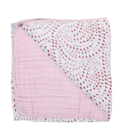 bebe au lait rose quartz and petal snuggle blanket