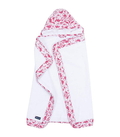bebe au lait hooded towel girl dinorama