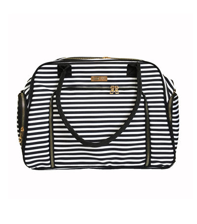 bebe chic manhattan deluxe breast pump bag - stripes