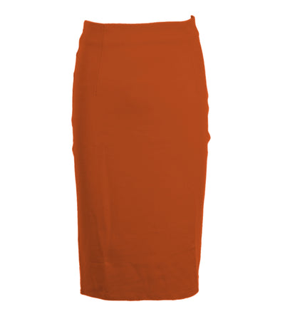 oleg cassini woman sofia skirt brick brown