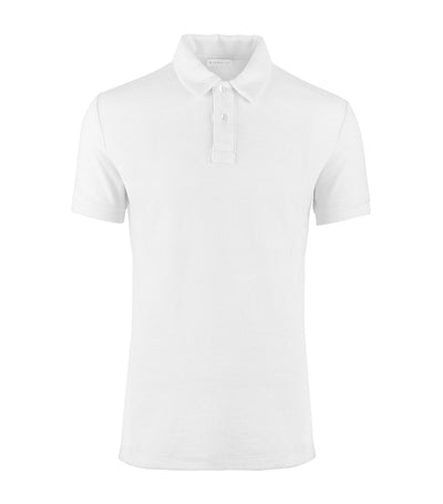 bluemint white yam terry polo shirt