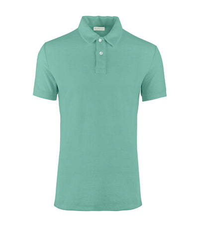 bluemint nile green yam terry polo shirt