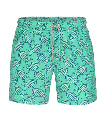 bluemint arthus swim shorts cascade fishy print
