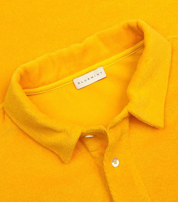 bluemint citrus yam terry polo shirt