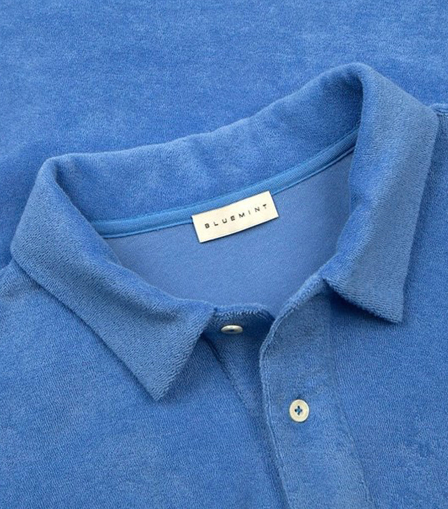 bluemint provence blue yam terry polo shirt