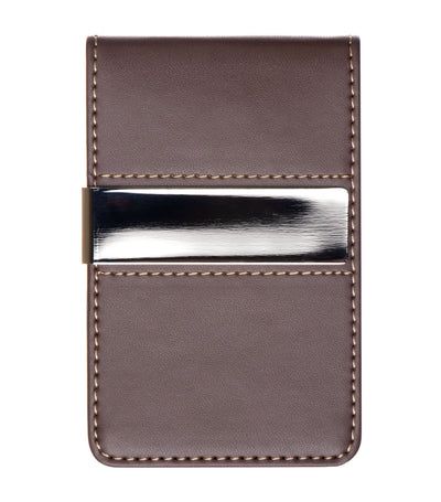 brouk & co. the classic man's money clip brown