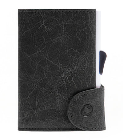 c-secure single wallet with card holder - blackwood