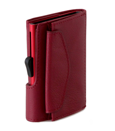 c-secure wallet with coin pocket - red