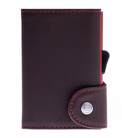c-secure single wallet with card holder - bordeaux