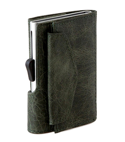 c-secure wallet with coin pocket - green