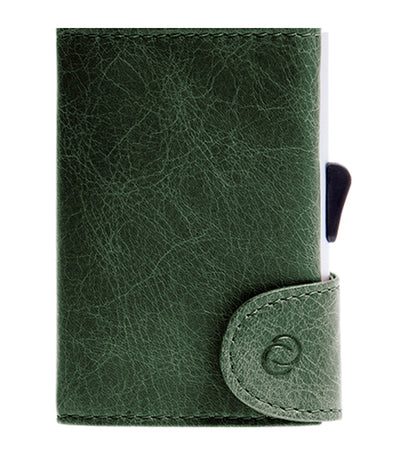 c-secure single wallet with card holder - green