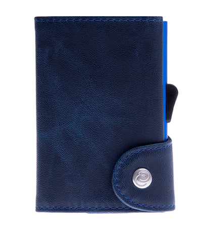 c-secure single wallet with card holder - navy