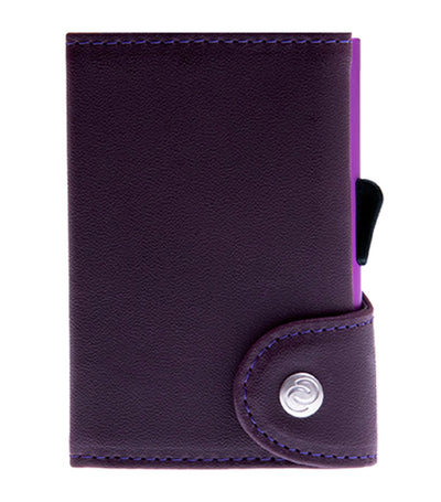 c-secure single wallet with card holder - violet