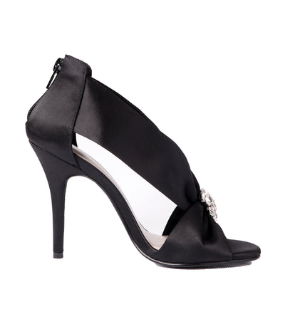 caparros orchid satin high heel black