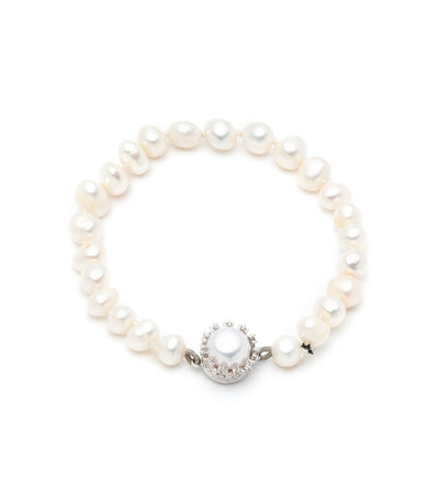 carolee freshwater pearl 6mm single row bracelet