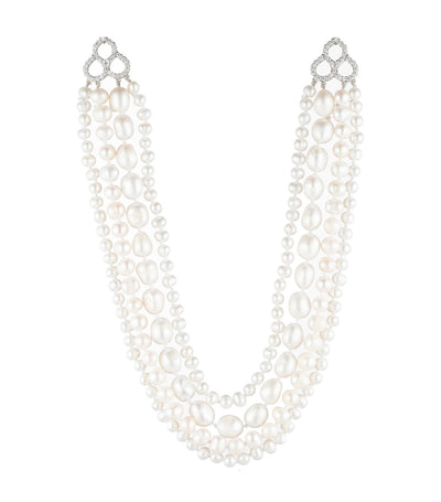 "carolee freshwater pearl 16""4 row necklace"