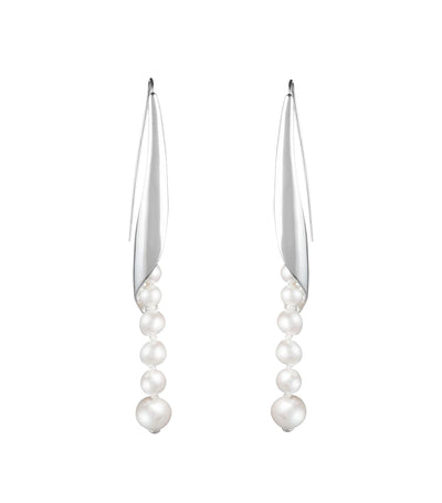 Michelle Linear Earrings With Pearls