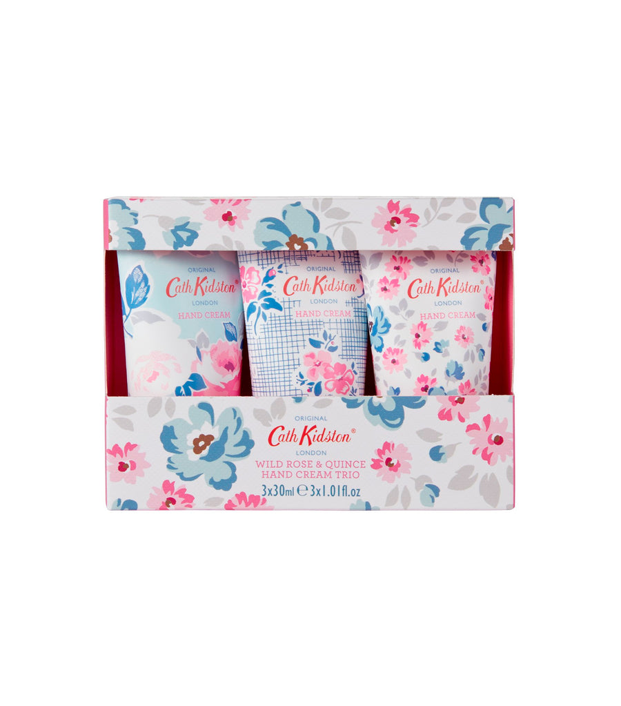 cath kidston wild rose and quince hand cream trio