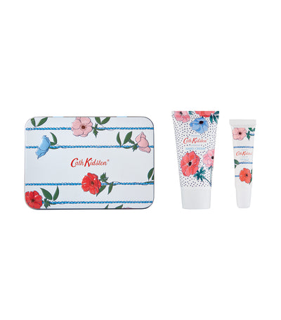 cath kidston posy bunch hand and lip tin