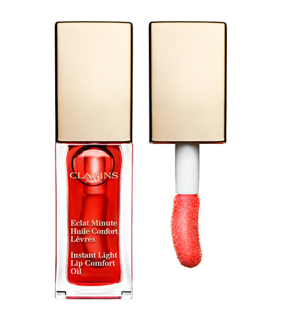 clarins 03 red berry instant light lip comfort oil
