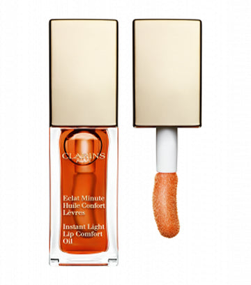 clarins 05 tangerine instant light lip comfort oil