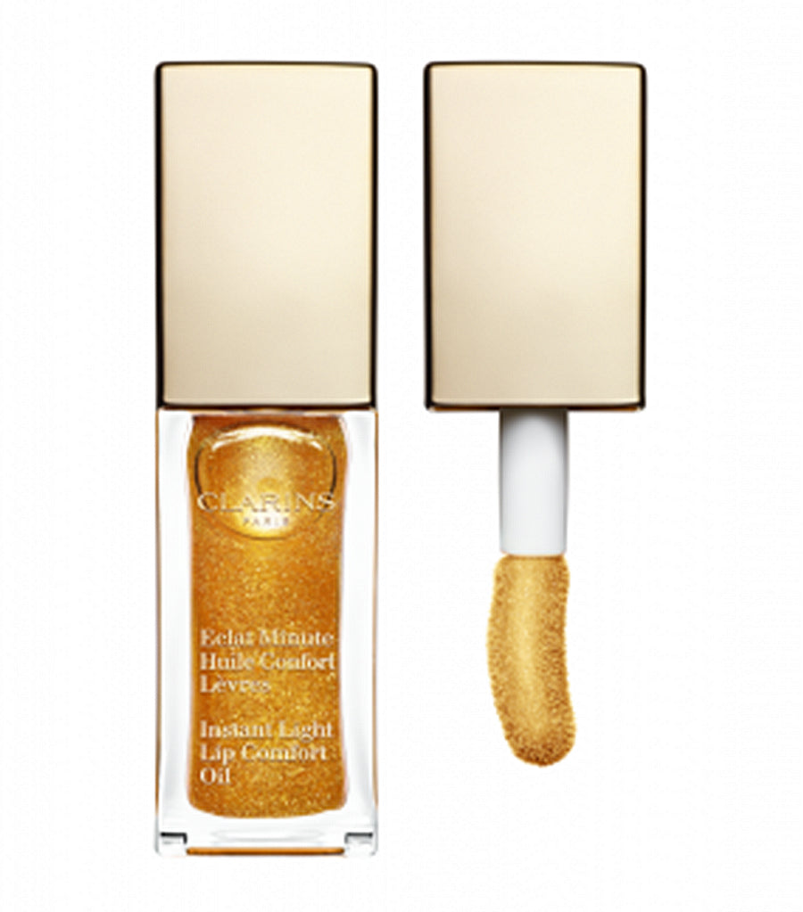 clarins 07 honey glam instant light lip comfort oil