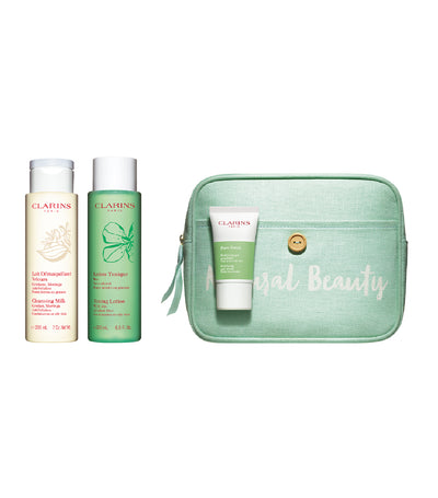 clarins purifying cleansing set for combination to oily skin