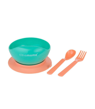 clevamama feeding bowl and cutlery set